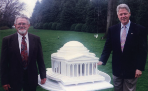 Frank Branch and President Clinton