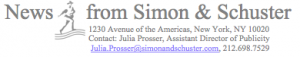 News from Simon & Schuster.